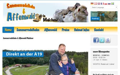 Affenwald und Sommerrodelbahn in Malchow